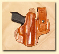 Gun Mag combo leather holsters