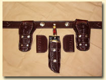 leather holstesr and leather belts