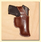 Bond Derringer snake inlay leather holsters